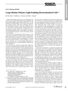 Long-Lifetime Polymer Light-Emitting Electrochemical Cells