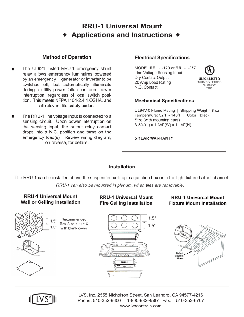Manufacturer ul924 relay instruction sheet asfbconference2016 Gallery