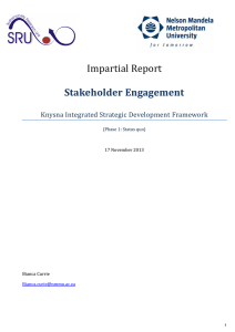 Impartial Report Stakeholder Engagement