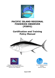 (PIRFO) Certification and Training Policy Manual