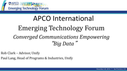 Big Data - Emerging Technology Forum