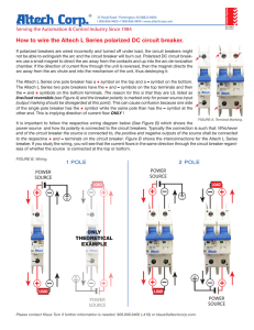 How to wire the Altech L Series polarized DC circuit breaker.