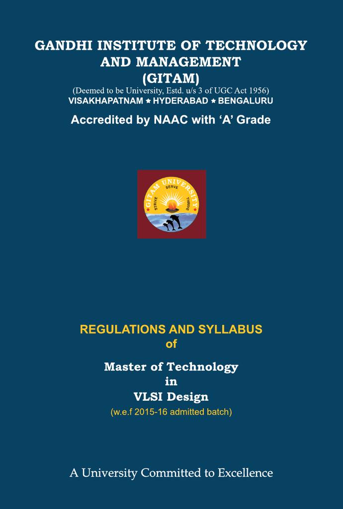Vlsi Design Courses In Hyderabad: M.Tech. (VLSI Design)rh:studylib.net,Design