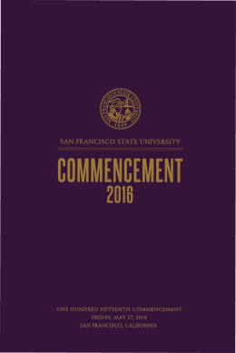 Program for the 2016 Commencement Ceremony