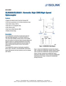 OLH5600/OLH5601: Hermetic High CMR/High-Speed