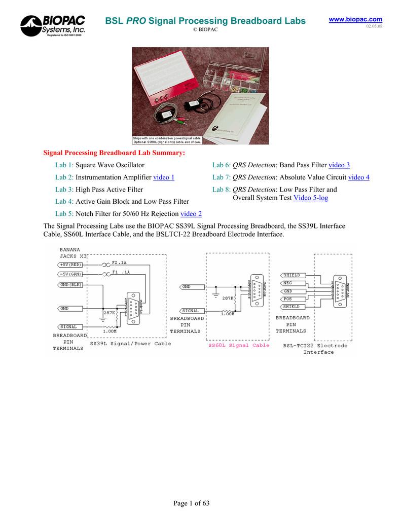 Bsl Pro Signal Processing Breadboard Labs Will Need To This And Report Some Results 018447855 1 Bdb7efaf01b529b9d65254cc253df441