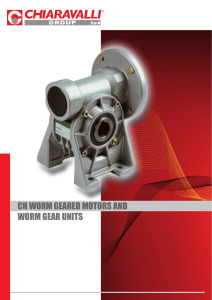 ch worm geared motors and worm gear units
