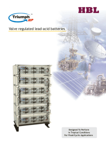 Valve regulated lead-acid batteries