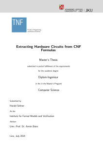 Extracting Hardware Circuits from CNF Formulas