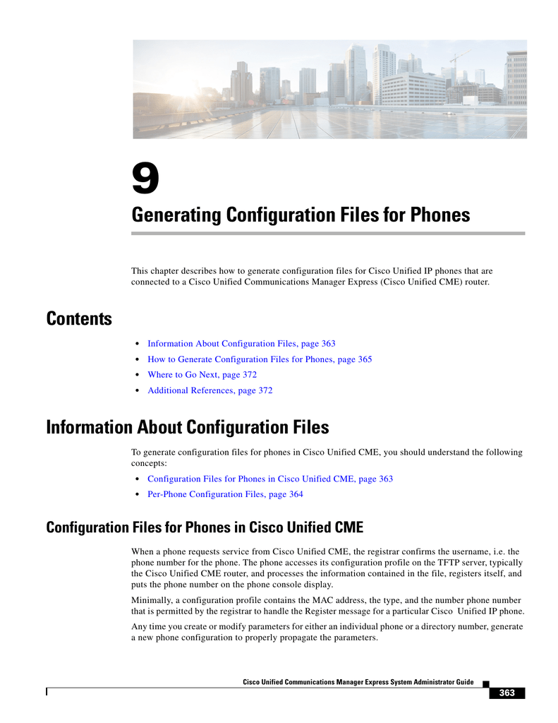 Generating Configuration Files for Phones