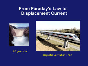 From Faraday`s Law to Displacement Current