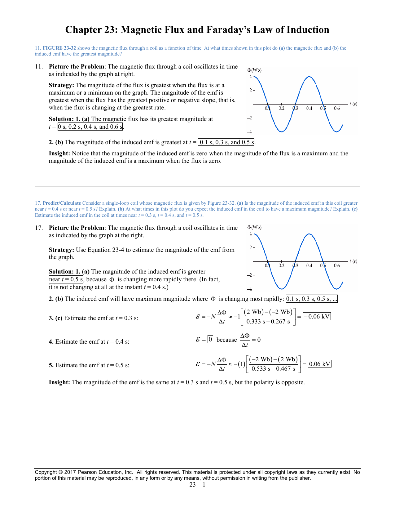 Chapter 23: Magnetic Flux and Faraday`s Law of Induction ε =