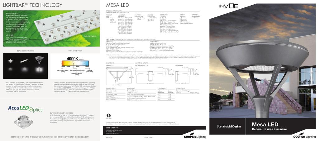 Msa Mesa Led Brochure