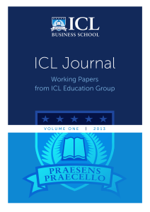 ICL Journal - ICL Business School