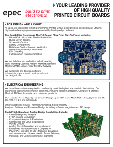 Printed Circuit Board Layout and Design