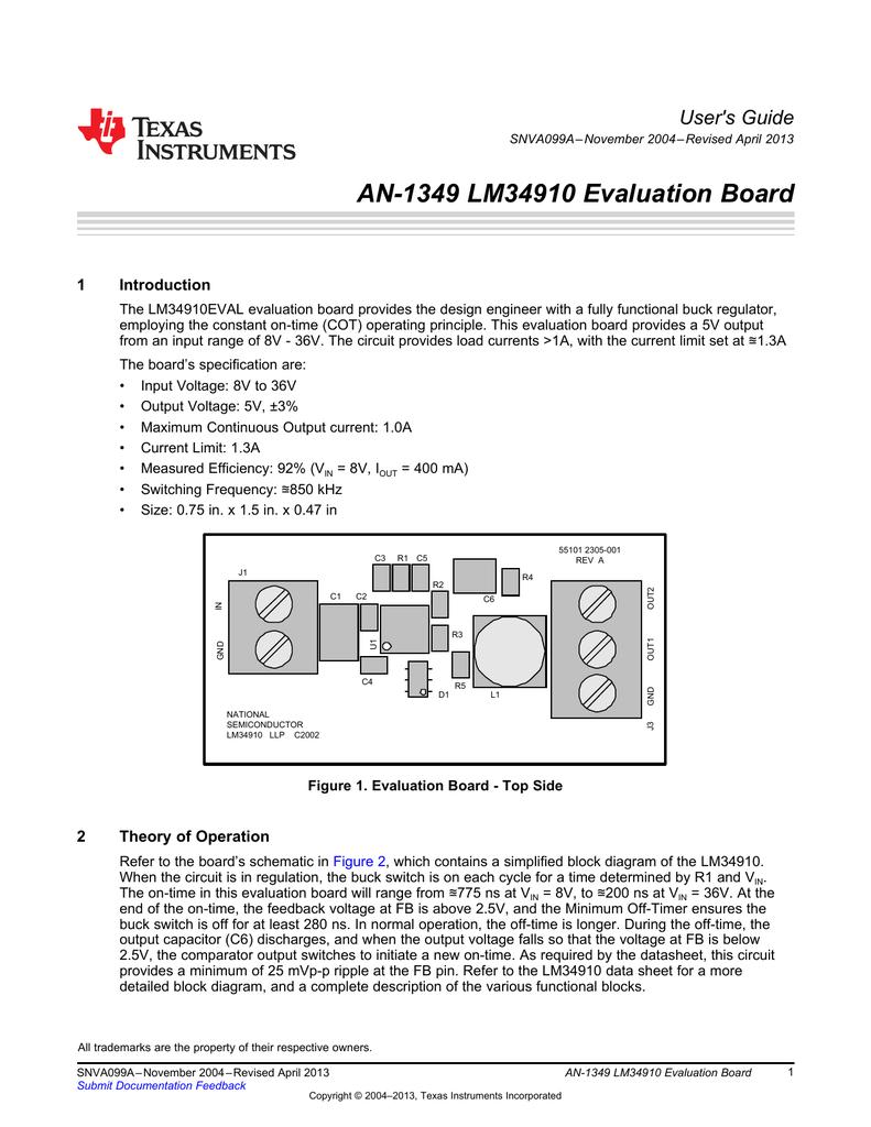 An 1349 Lm34910 Evaluation Board Rev A Omap 5 Block Diagram