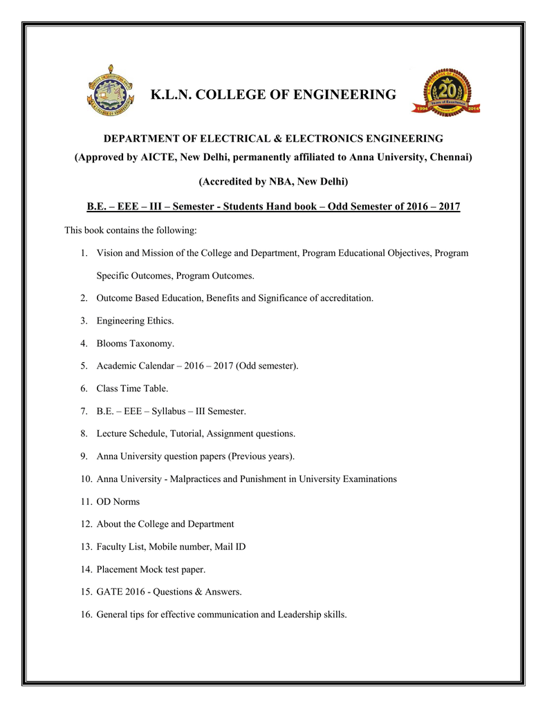 Iii Semester Kln College Of Engineering Linear Integrated Circuit Questions And Answers Voltage Limiter
