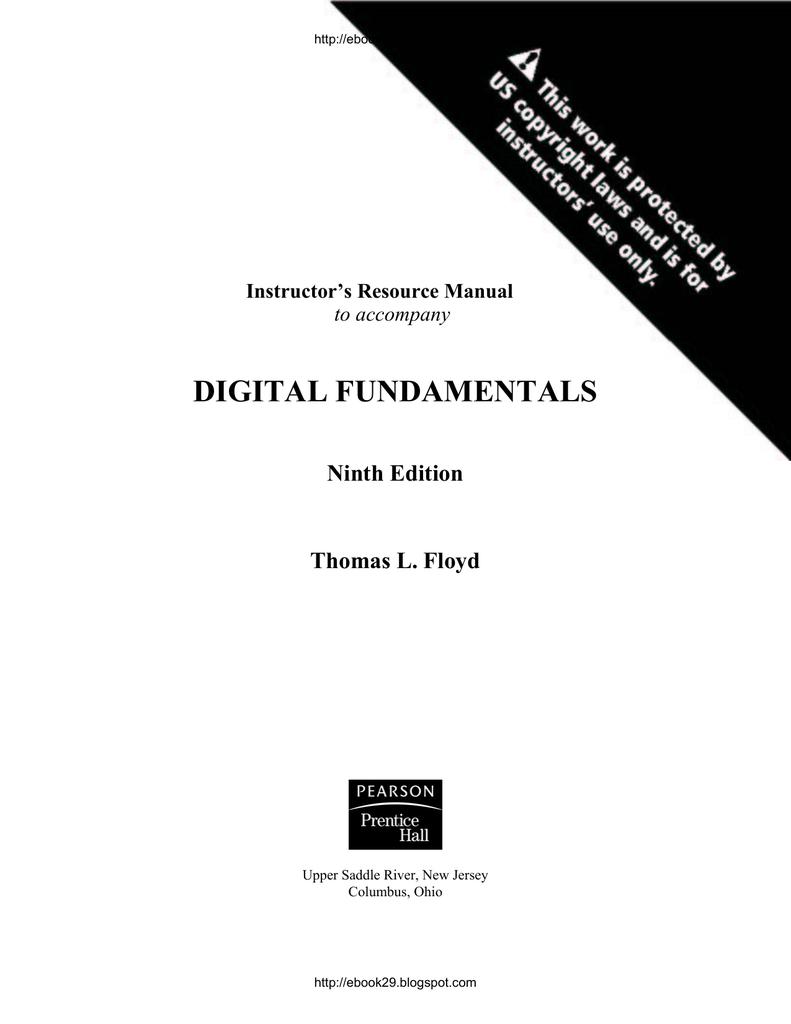 digital fundamentals 9ththomas sols rh studylib net digital fundamentals  floyd 9th edition solution manual