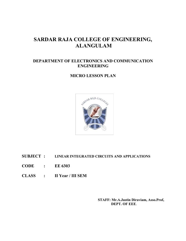 Sardar Raja College Of Engineering Alangulam Diffusion Impurities For Ic Fabrication
