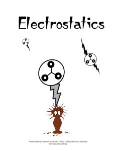 Electrostatics - Science Education at Jefferson Lab