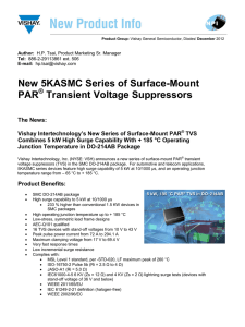 New 5KASMC Series of Surface-Mount PAR Transient