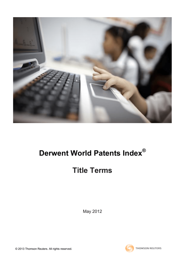 Derwent World Patents Index Title Terms