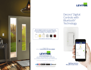 Leviton Bluetooth Controls