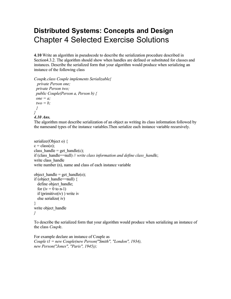 Chapter 4 Selected Exercise Solutions