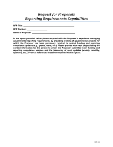 RFP-RR Reporting Requirements Capabilities