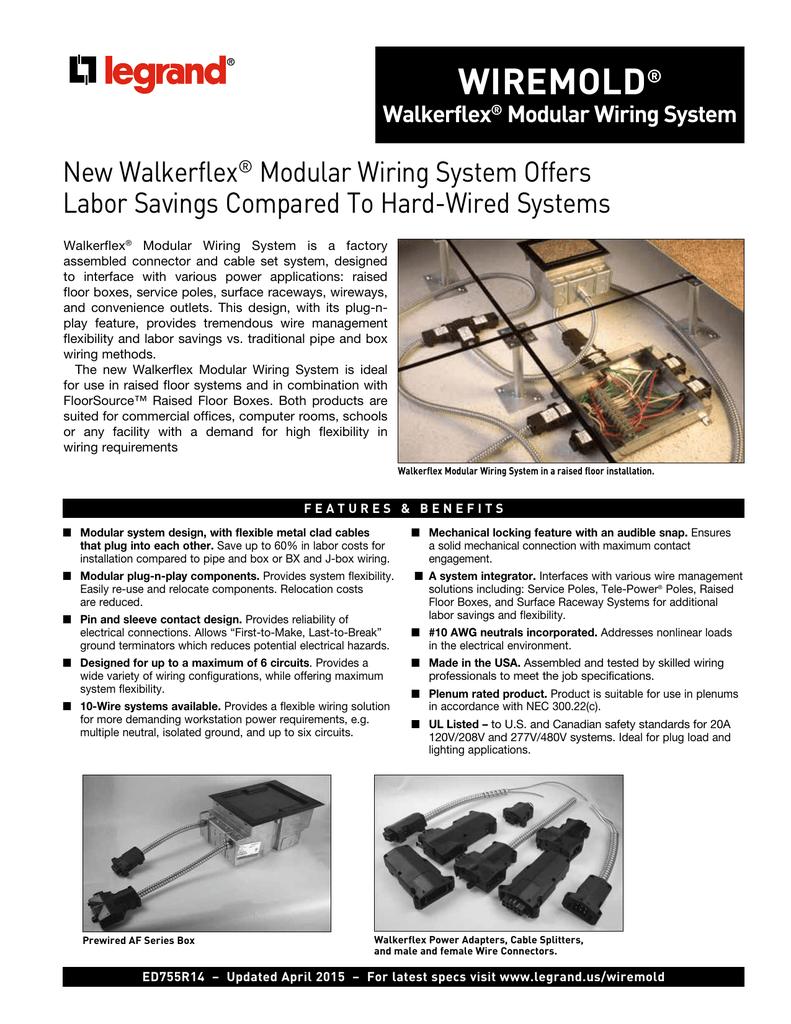 Walkerflex Modular Wiring System