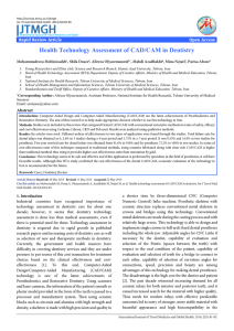 Health Technology Assessment of CAD/CAM in Dentistry
