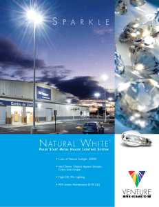 Venture`s Natural White Pulse Start Metal Halide Lighting Systems