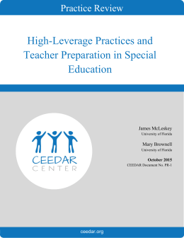 High-Leverage Practices and Teacher Preparation in