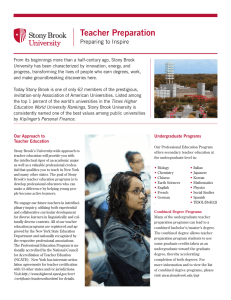 Teacher Preparation - Stony Brook University