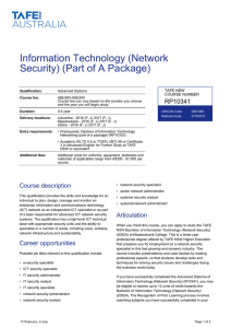 Advanced Diploma of Information Technology (Network Security