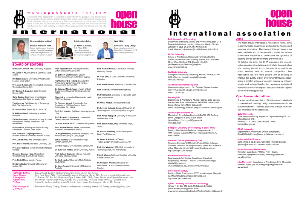 best service 298ad 36949 Vol  40 Issue No.2 2015 - Open House International