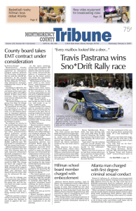 view sample issue - The Montmorency County Tribune
