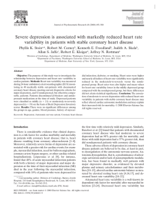 Severe depression is associated with markedly reduced heart rate