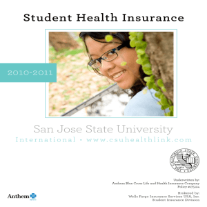 San Jose State University - Wells Fargo Insurance Services