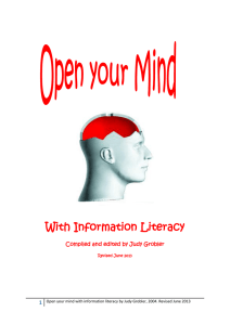 Open your mind with information literacy