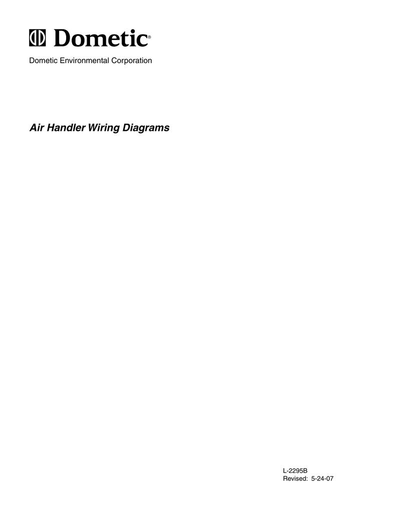Dometic Air Handler Wiring Diagrams Manual E Passport Circuit Diagram