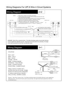 Wiring Diagrams For UPI 8 Wire 4 Circuit Systems