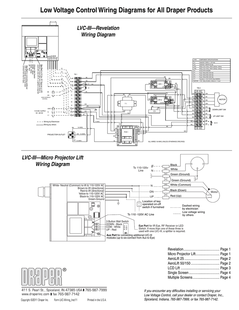 Low Voltage Eye Wiring Diagram Blog About Diagrams Wall Switch Schematic Control For All Draper Products Supplies