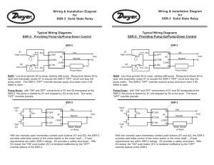 Typical Wiring Diagrams SSR-3: Providing