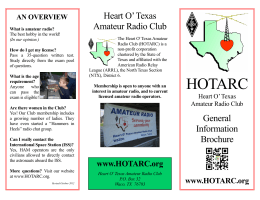 about HOTARC and amateur radio