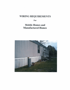 For Mobile Homes and WIRING REQUIREMENTS