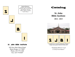 Catalog - St. John Baptist Church