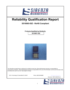 Reliability Qualification Report
