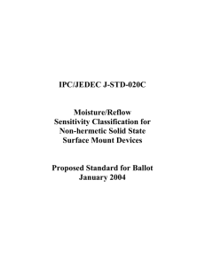 IPC/JEDEC J-STD-020C Moisture/Reflow Sensitivity Classification