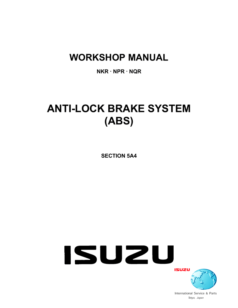 Anti Lock Brake System Abs Check For 12v At The Lg Wire Stoplamp Switch On Pedal